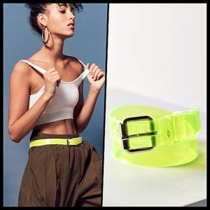 Urban Outfitters Clear Neon PVC Belt NWOT